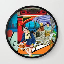 Just Visiting Wall Clock