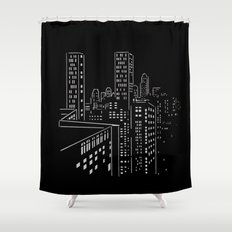 City nights, city lights Shower Curtain