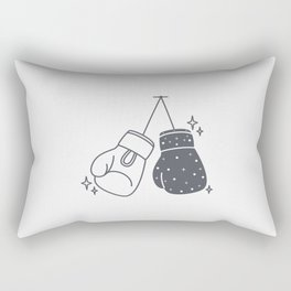 Boxing gloves night and day Rectangular Pillow