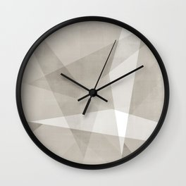 Desert Shadow No. 2  | Abstract in Neutrals Wall Clock