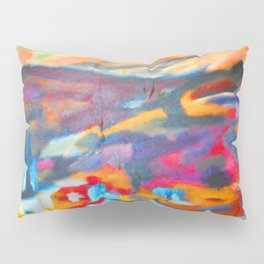 My Village | Colorful Small Mountainy Village Pillow Sham