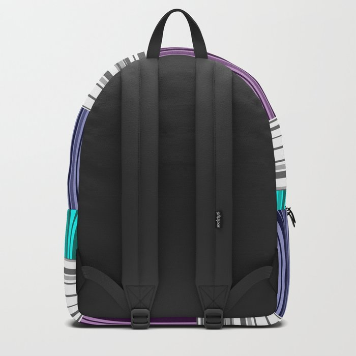The colorful stripes . Backpack