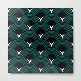 Art Deco Shell Print Metal Print