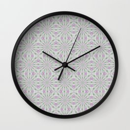 Rosettes in Purple and Green Wall Clock