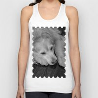 golden retriever Tank Tops featuring Golden retriever by Mauricio Togawa