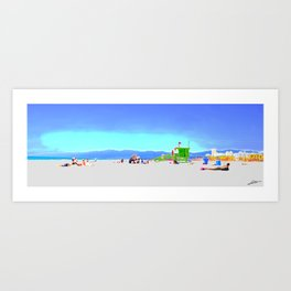 Summer Malibu beach Art Print