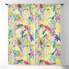 Fruit Tea Florals - Lemon Blackout Curtain