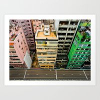 hong kong Art Prints featuring Hong Kong by Gal Raz