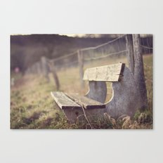 Sit Down a While Canvas Print