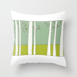 The Trees Throw Pillow