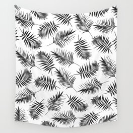 Palm leaves, Palm, Abstract, Scandinavian, Minimal, Pattern, Modern art Wall Tapestry