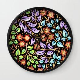 Filigree Flora Wall Clock