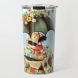 Rain on the green grass, Rain on the tree, Rain on the housetop, But not on me Travel Mug