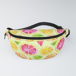 Watercolor Orange Slice Pattern Fanny Pack