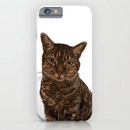 Chazzy the former Toronto Street cat iPhone Case