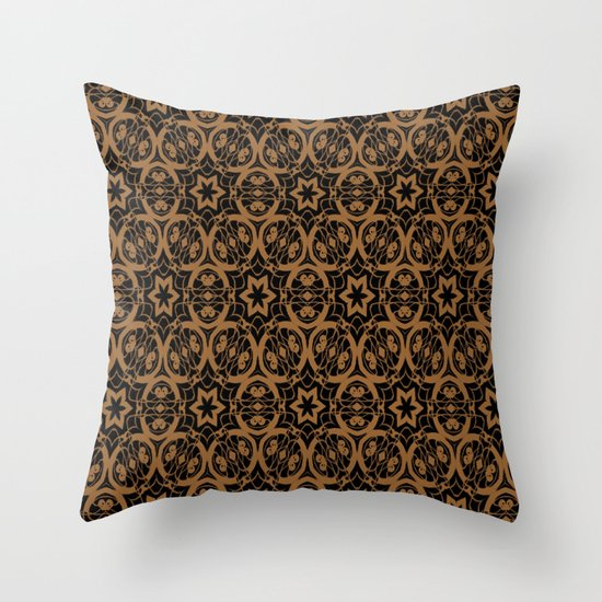 Black and Bronze Oils 2675 Throw Pillow