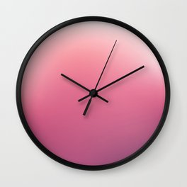 White, Pink, Claret and Purple Blurred Background Wall Clock