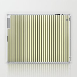 Trendy French Cream Mattress Ticking Black Double Stripes Laptop & iPad Skin