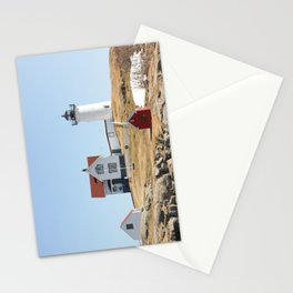 Nubble Light House At Christmas Stationery Cards