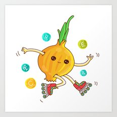 Skipping Onion Art Print