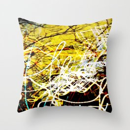 Chaos Tree - Light Painting Throw Pillow