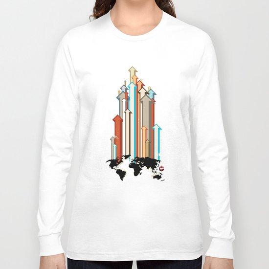 "Glue Network Print Series ""Economic Development"" Long Sleeve T-shirt"