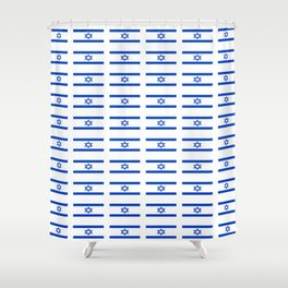 flag of israel 2 - יִשְׂרָאֵל ,israeli,Herzl,Jerusalem,Hebrew,Judaism,jew,David,Salomon. Shower Curtain