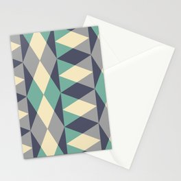 Mid Century Modern Geometric Pattern 343 Stationery Cards