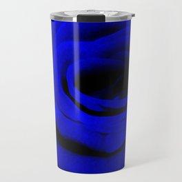 Expansion Blue rose flower Travel Mug
