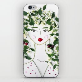 Mimi, the kindly devoted floral lady iPhone Skin