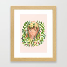 Herbs and Wildflower Nymph Framed Art Print
