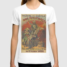 Don Quixote and Sancho Panza Theater Vintage Poster T-shirt