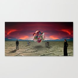 Searching For Circumference In A Square Canvas Print