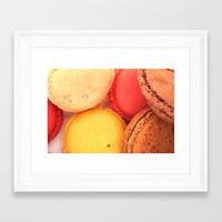 macaroons Framed Art Prints featuring Macaroons by alexarayy