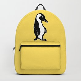 Penguins Pattern Yellow Backpack