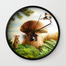 Post office for small animals Wall Clock