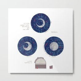Charting the Nightsky Metal Print