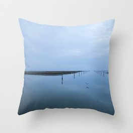 Double blue Throw Pillow
