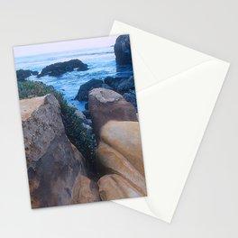 """Private - No Trespassing"" Rugged, Rocky Coastal Cove Stationery Cards"