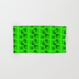 A grid of salad squares with black cores intersections and chaos of flares.  Hand & Bath Towel