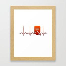 WELDER HEARTBEAT Framed Art Print