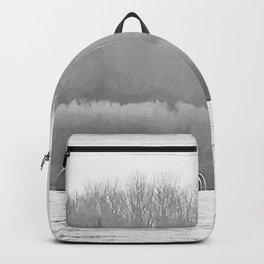 November Morning Hay Bales Backpack