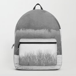 November Morning Hay Bales Backpack