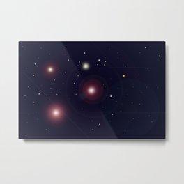 The Universe through the Stars Metal Print