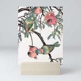 Pomegranate and Lovebirds Mini Art Print