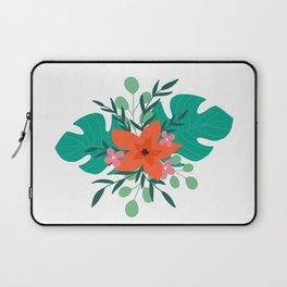 Tropical floral print Laptop Sleeve