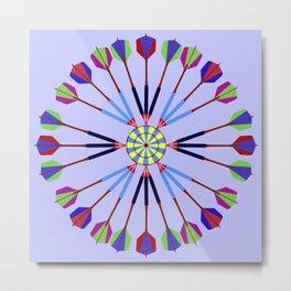 Game of Darts Design Metal Print