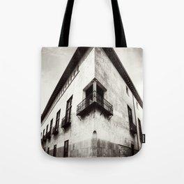 The oblique building Tote Bag