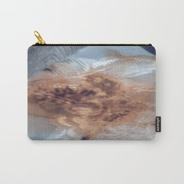 Apricot White Carry-All Pouch