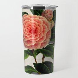 botanical stripes - camellia Travel Mug
